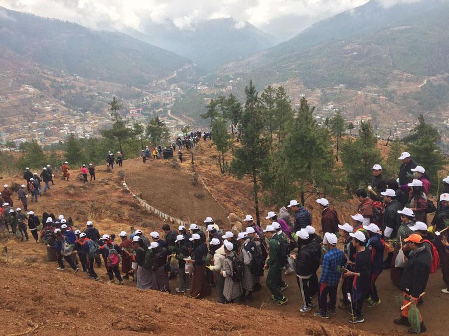 La-llegada-del-nuevo-príncipe-de-Bután-es-celebrada-con-108000-árboles-plantados-06