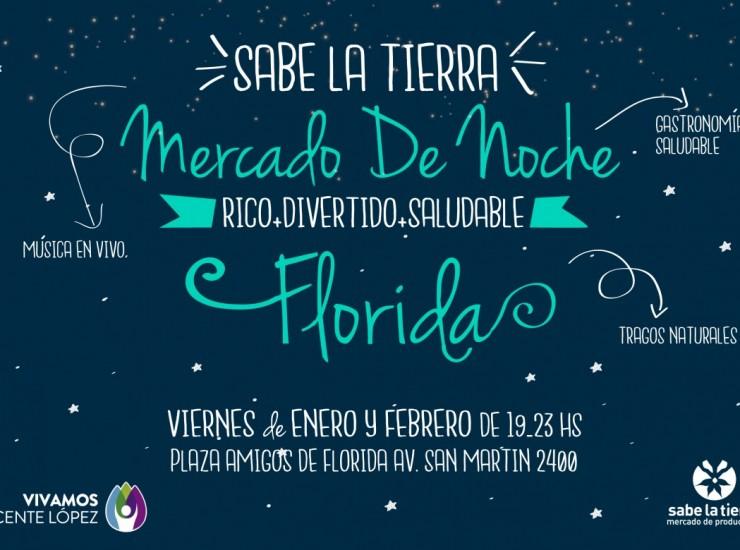 Flyer Mercado de Noche Florida